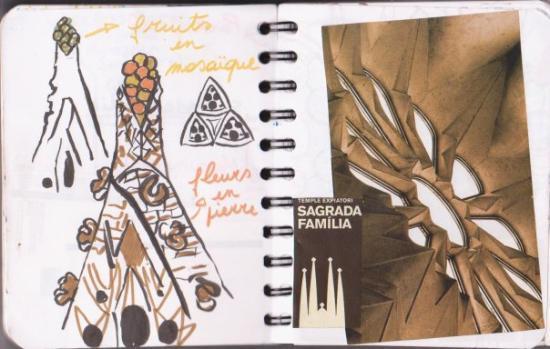 โบสถ์แห่งครอบครัวศักดิ์สิทธิ์: La Sagrada Familia, entre gothique, formes pures, kitsch qui s'accroche aux frontons et travaux