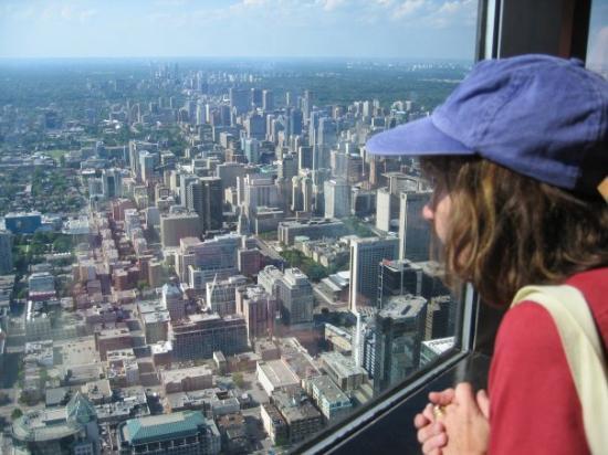 โตรอนโต, แคนาดา: Overlooking the city from the CN Tower