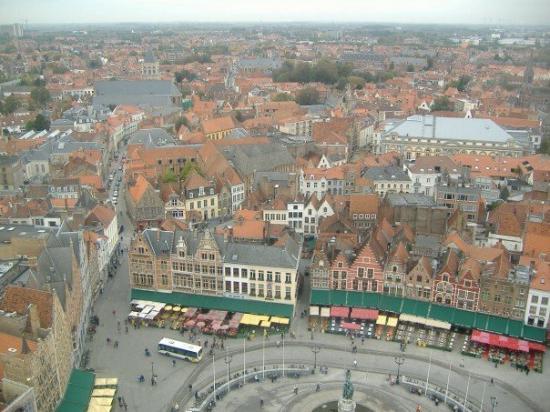บรูจส์, เบลเยียม: The view from the belfry.