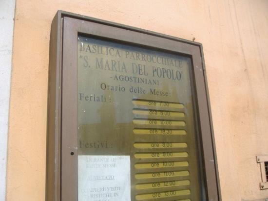 Angel Tours Rome: Santa Maria del Popolo.......
