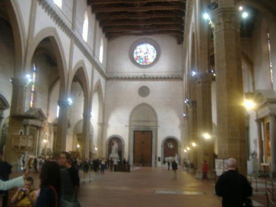 Basilica di Santa Croce: Inside Santa Croce.  Told you it was beautiful.