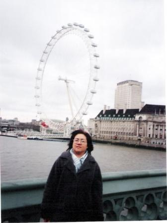ลอนดอนอาย: Thames - London Eye in the background