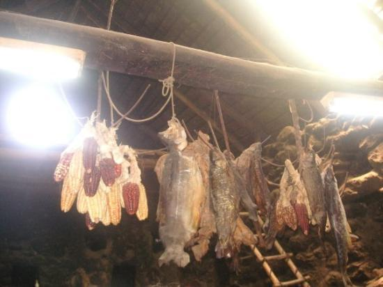 อูรูบัมบา, เปรู: the ceiling with fish and corn to dry out!