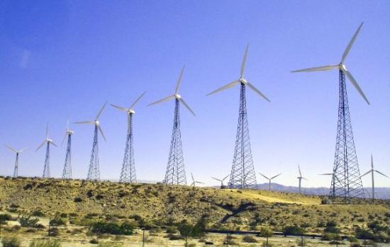 ปาล์มสปริงส์, แคลิฟอร์เนีย: Wind power