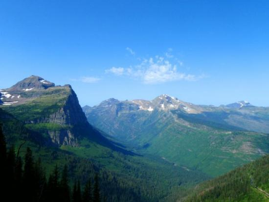 Glacier National Park, มอนแทนา: Glacier NP from Highline Trail