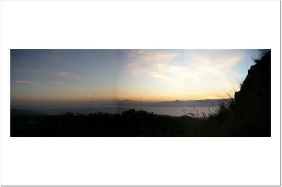 Reggio Calabria, อิตาลี: View from family's gardens (view from Calabria looking at Sicily)