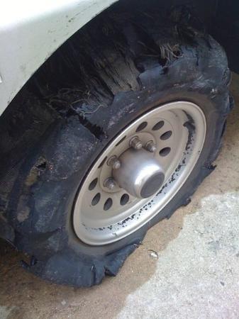ฟอร์เรสต์ซิตี, อาร์คันซอ: Other blown tire