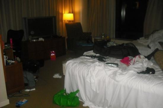 โรงแรมมิลเลเนียมฮิลตัน: uggghhhh what a mess....good thing we had a second room to sleep in;)
