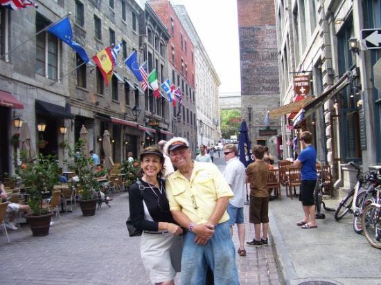มอนทรีออล, แคนาดา: Drue and Jerry in Old Montreal