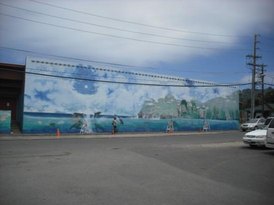 ไวมานาโล, ฮาวาย: A mural right outside the L&L Hawaiian BBQ
