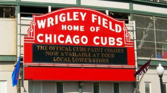 The Fomous Marquee sign outside wrigley field