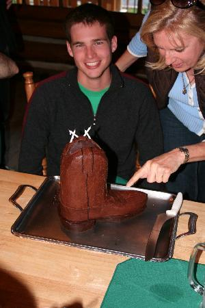 Red Horse Mountain Ranch: Lauren, the head Chef, made this cake for my son's birthday.