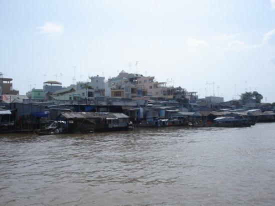 Chau Doc from the river, Vietnam