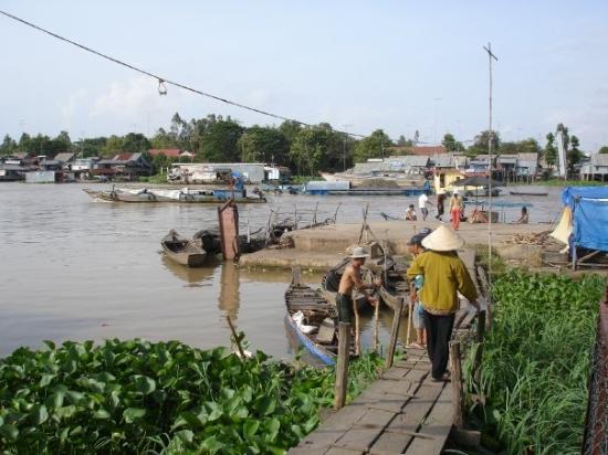 Mekhong river,Chau Doc, Vietnam