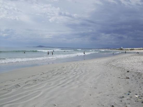 ใจกลางเมืองเคปทาวน์, แอฟริกาใต้: Capetown beach in front of apartments.