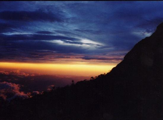 Mount Kinabalu: View from the half way house on Mt Kinabalu, Borneo