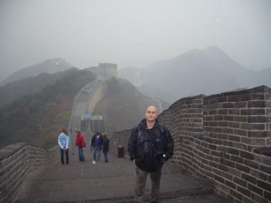 กำแพงเมืองจีน: raining then 5 degrees temp. lip burn, arrgggg