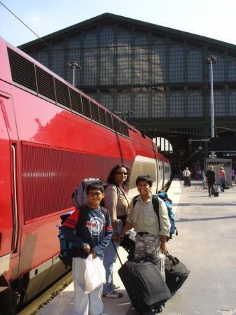 ลูร์ด, ฝรั่งเศส: Paris Nord Station returned from Belgum 2006