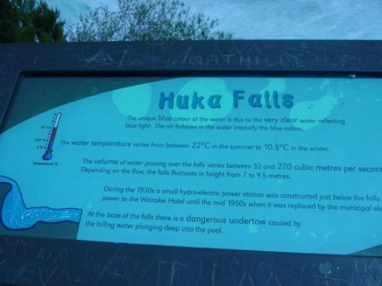 Huka Falls tracks: Huka Falls - Taupo