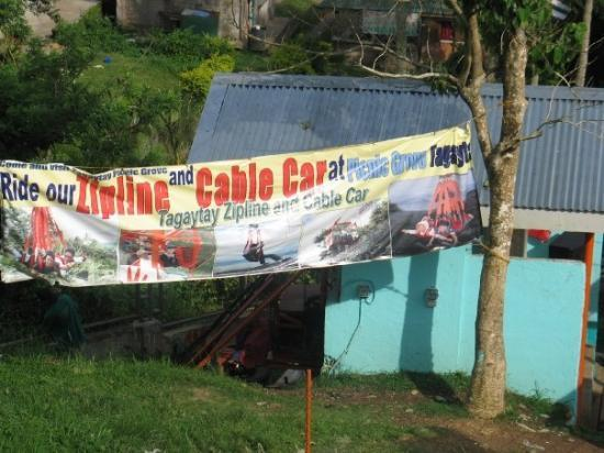 Tagaytay, ฟิลิปปินส์: Zipline and Skylift at Picnic Grove
