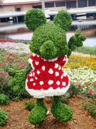 เอ็ปคอต: Minnie Mouse topiary