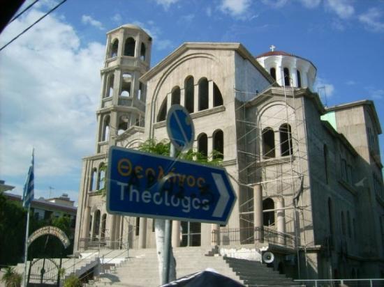 die Kirche von Potos...gerade im Aufbau