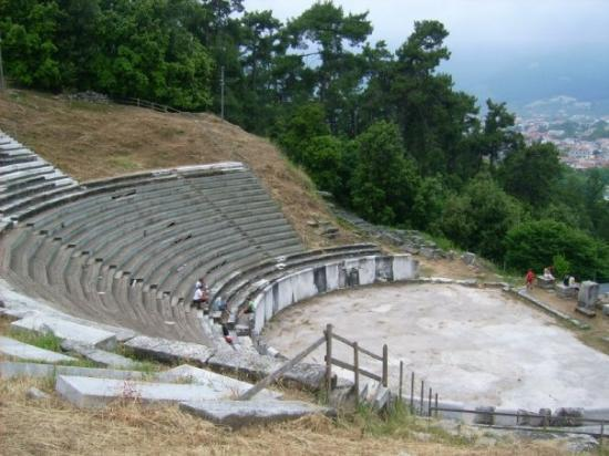 Thassos Town (Limenas), กรีซ: antikes Theater von Limenas