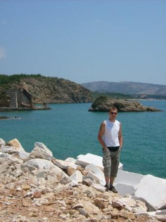 Limenaria, กรีซ: Marmorschutt....mal eben so weggekippt