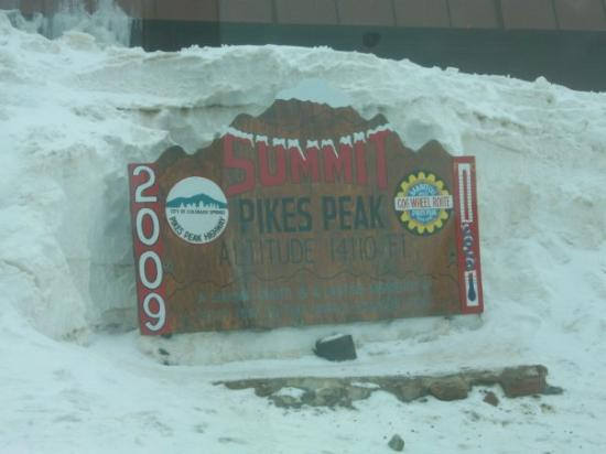 the top of Pikes Peak