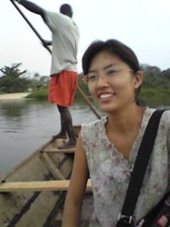 Togo crossing Lake Togo to Togoville, the origin of Togo