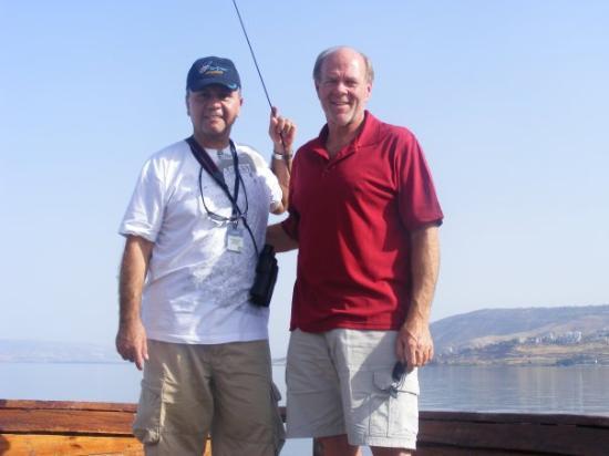 เยรูซาเล็ม, อิสราเอล: Edward and Pastor Jeff on the Sea of Galilee