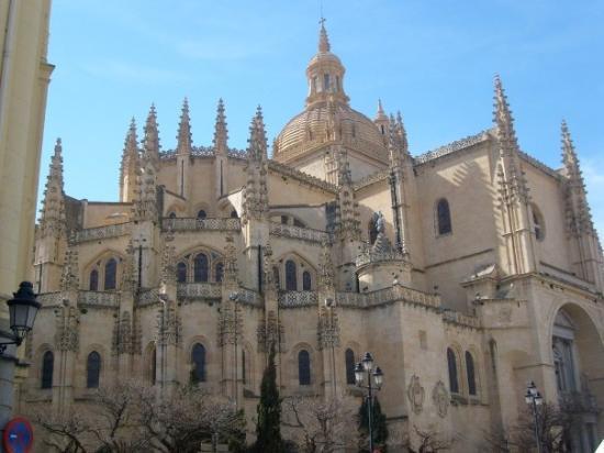 เซโกเวีย, สเปน: The cathedral of Segovia.