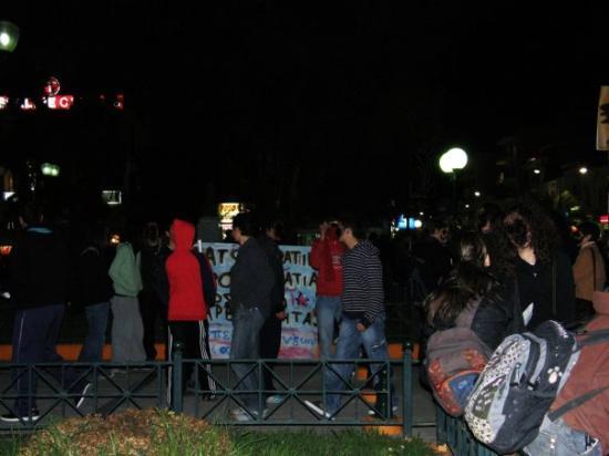 คอรินท์, กรีซ: Demonstration in Korinthos
