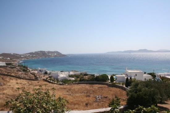 มีโกนอสทาวน์, กรีซ: Panorama dall'Hotel