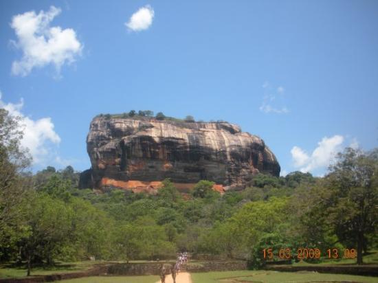 clear blue sky - Sigiriya Rock waiting for us to climb