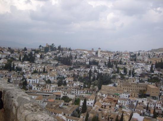 กรานาดา, สเปน: L'alhambra, vue sur la ville