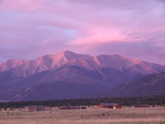 The view from our home in Buena Vista, CO