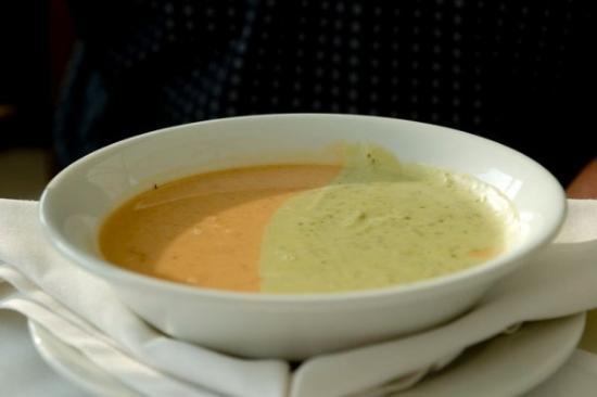 Hard Rock Hotel Vallarta: Tomato & Asparagus soup.