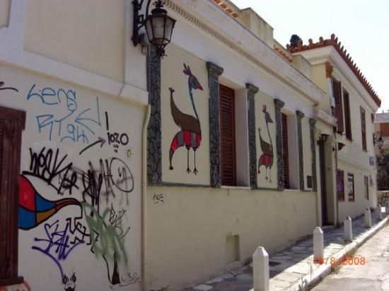 Anafiotika: Street in Monastiraki (Athens)