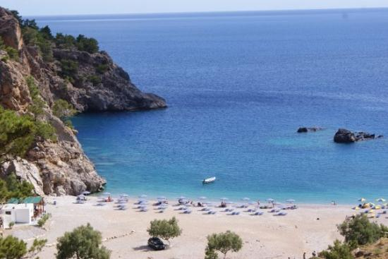 One of the many gorgeous beaches along the east coast of Karpathos - this one is named Achata.
