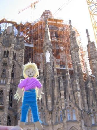 โบสถ์แห่งครอบครัวศักดิ์สิทธิ์: Sagrada Familia, the yet to be completed Barcelonian Cathdral. Designed by Gaudi