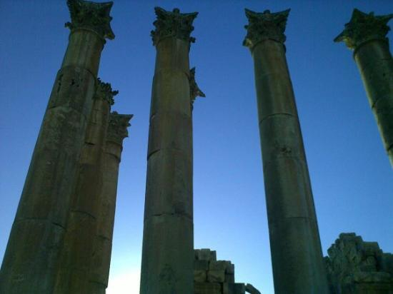 Jerash, จอร์แดน: The temple of Artemis