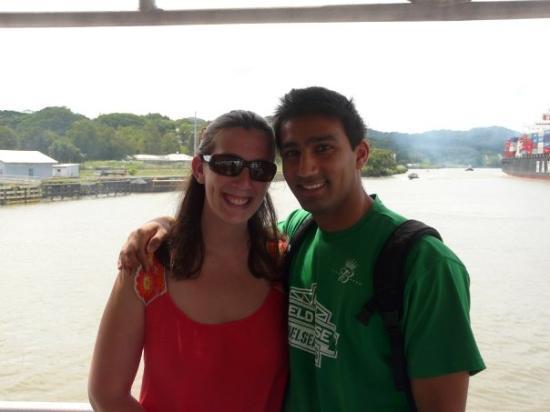 ปานามาซิตี, ปานามา: Sunny and me about to beging our transit of the Panama Canal!