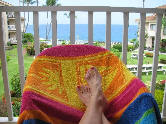 The Sea Village: This was my position most afternoons!