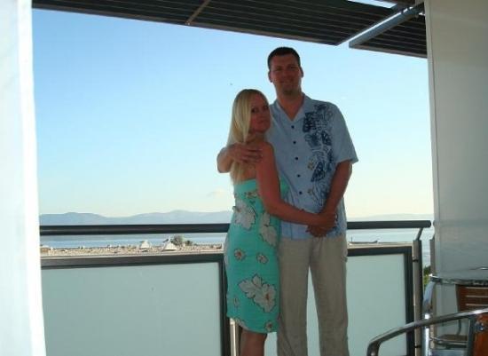 Bol, โครเอเชีย: Lee & I before dinner
