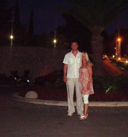 Bol, โครเอเชีย: Lee and I outside the hotel entrance