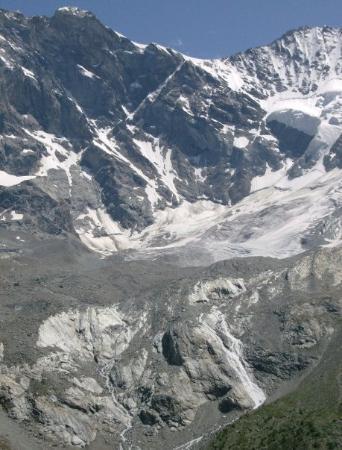 Zinal, สวิตเซอร์แลนด์: schoon uitzicht op de gletsjer