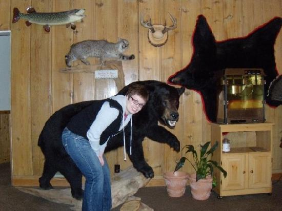 Scott's Superior Inn & Cabins: me and the nice stuffed bear