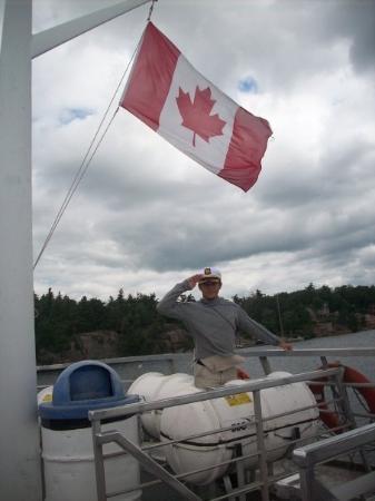 ไนแอการาออนเดอะเลก, แคนาดา: mil islas, bandera de canada y yo, de capitan!