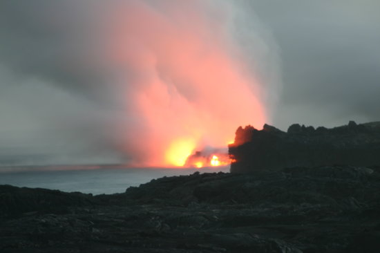 Hawaii Volcanoes National Park, HI: Kilauea lava flow in 2008